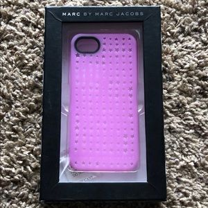 Marc Jacobs iPhone 5 pink stars cell phone case